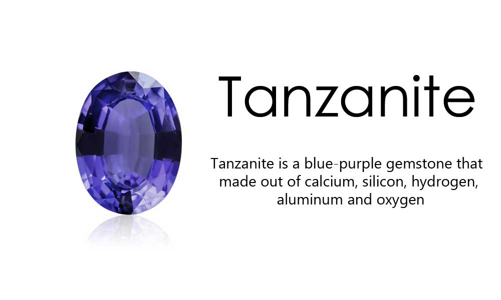 Tanzanite cabochons for jewelry making