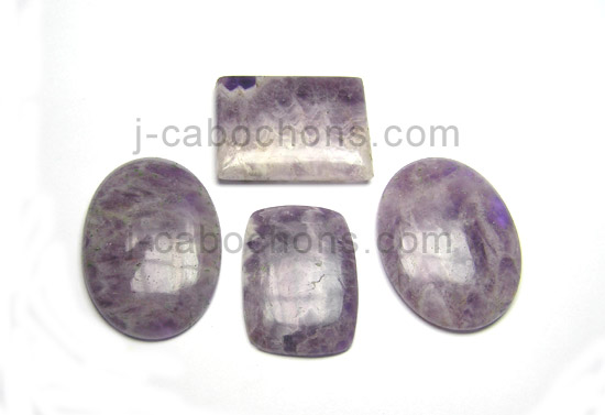 amethyst lace agate cabochons