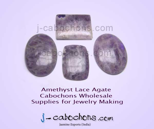Amethyst lace agate cabochons wholesale