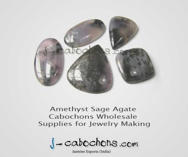 Amethyst sage agate cabochons wholesale